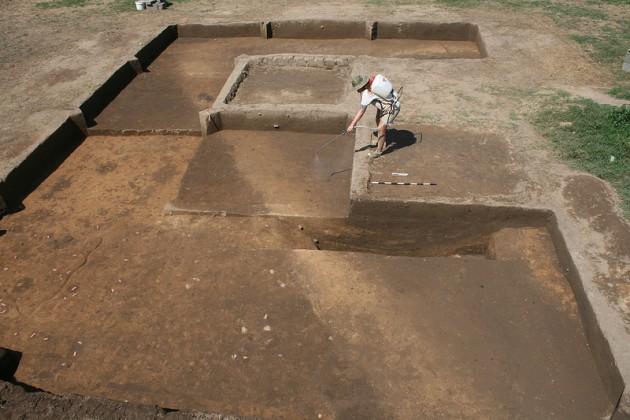 Excavación del Fuerte San Juan, cerca de Morganton (EEUU)