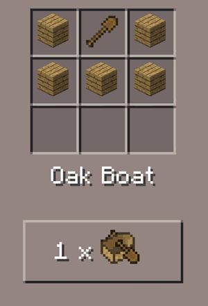 Make an Oak Boat in Minecraft