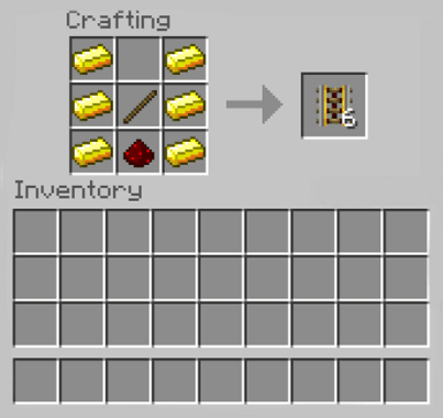 How to Make Powered Rails in Minecraft