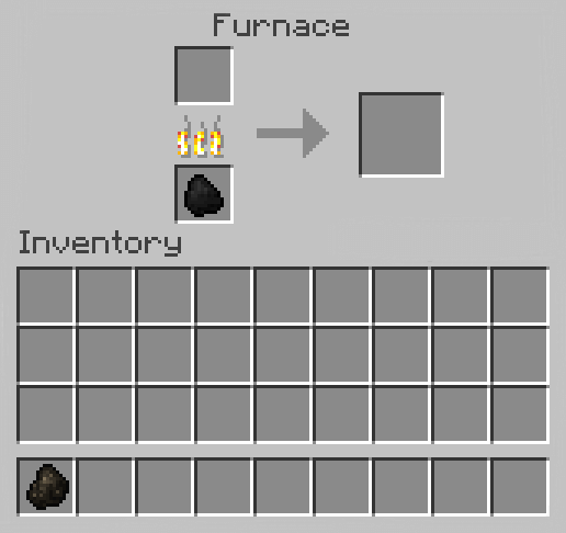 Make Charcoal in Minecraft
