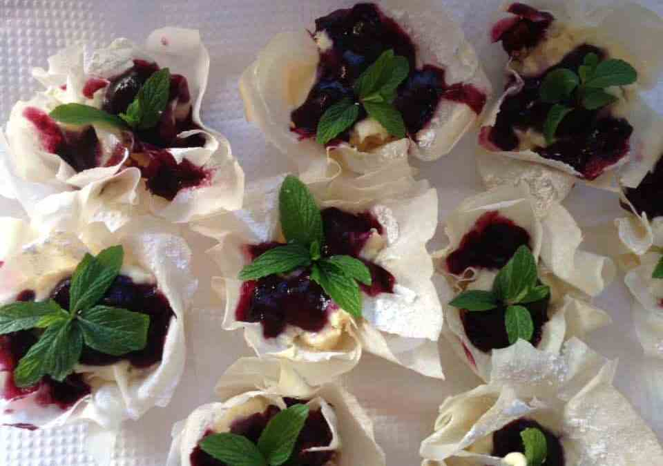 Blueberry Phyllo Baskets