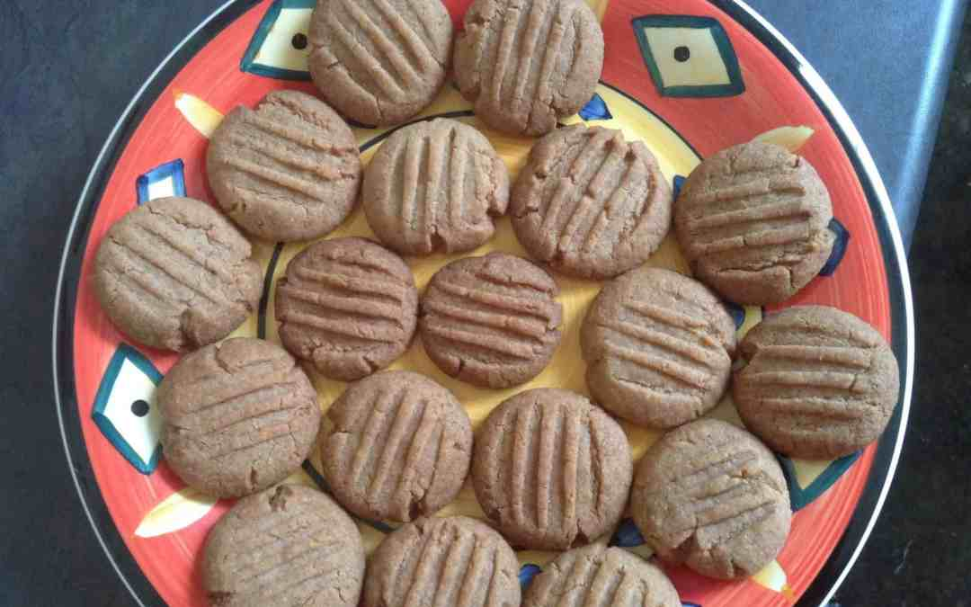 Eggless chocolate and coconut biscuits