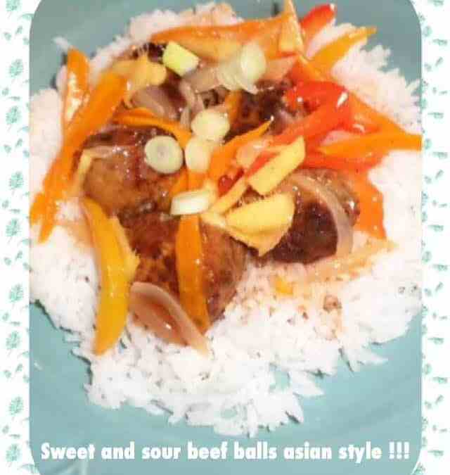 Sweet and sour beefballs