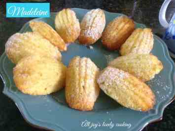 french treat Madeleine cookies