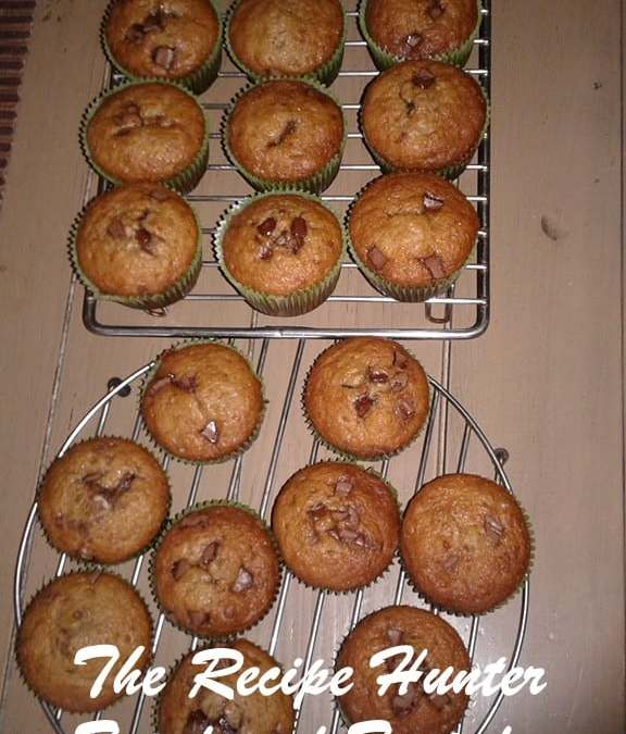 Banana choc chip muffin