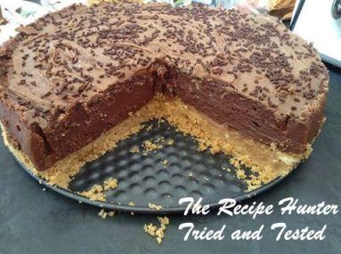 TRH No bake chocolate cheese cake