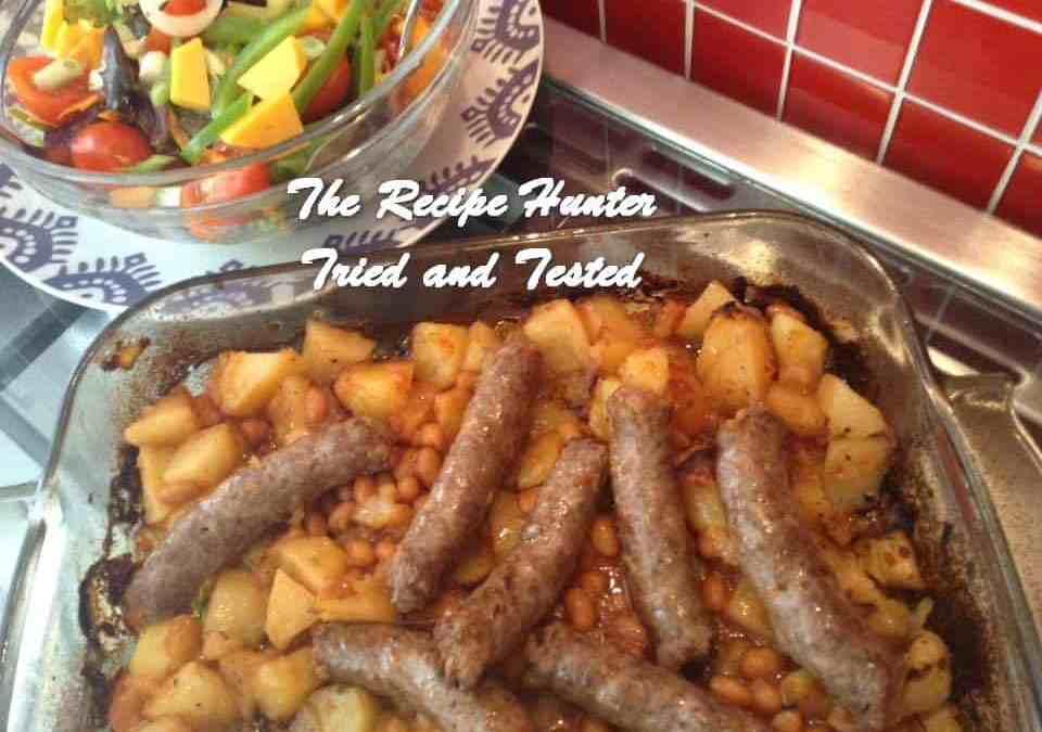 Gail's Sausage, Potato and Bean Bake