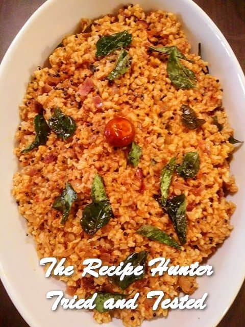 Moumita's Spicy, Healthy Tomato Brown rice