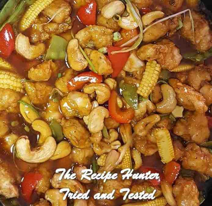 Vashnee's Chinese Cashew Chilli Chicken