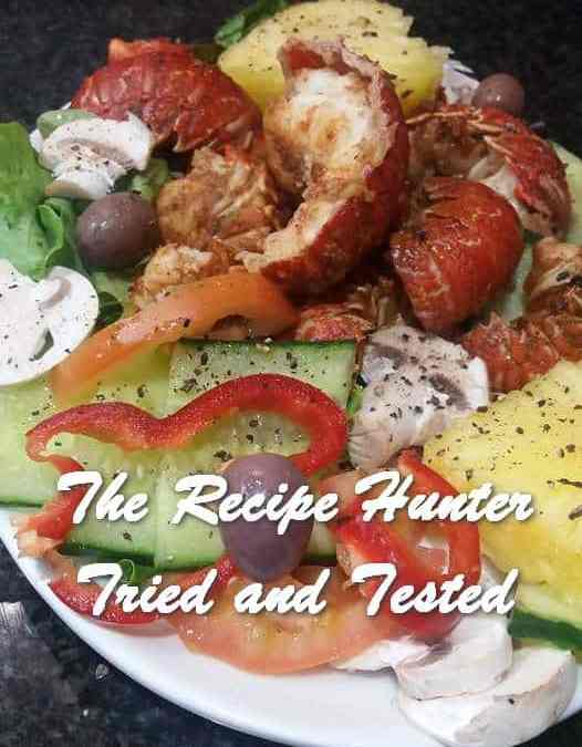 Feriel's Cape Salmon Fish Curry and Crayfish Tails Salad