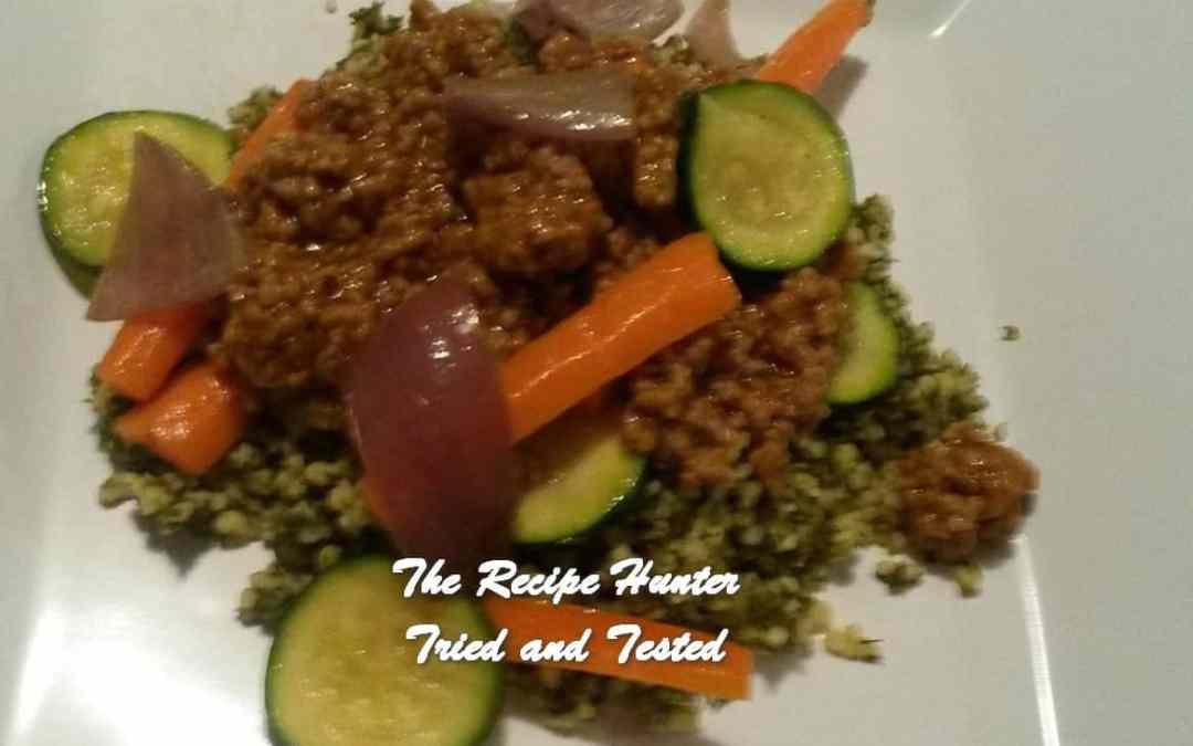 Hilda's Spiced Lamb with Tabouli