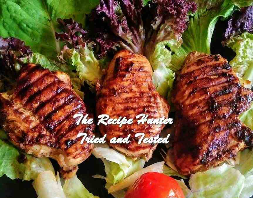 Moumita's Healthy Grilled Spicy Chicken Breasts