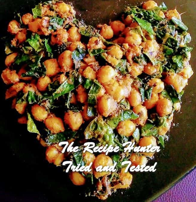 Moumita's Spicy and Healthy Chickpeas Kale curry