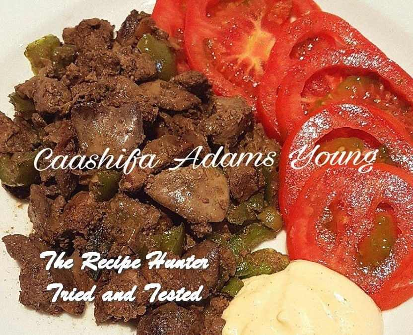 Caashifa's Chicken Livers with Peppers
