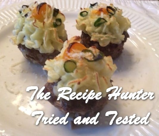 Es's Meatloaf Cupcakes with Mashed Potato