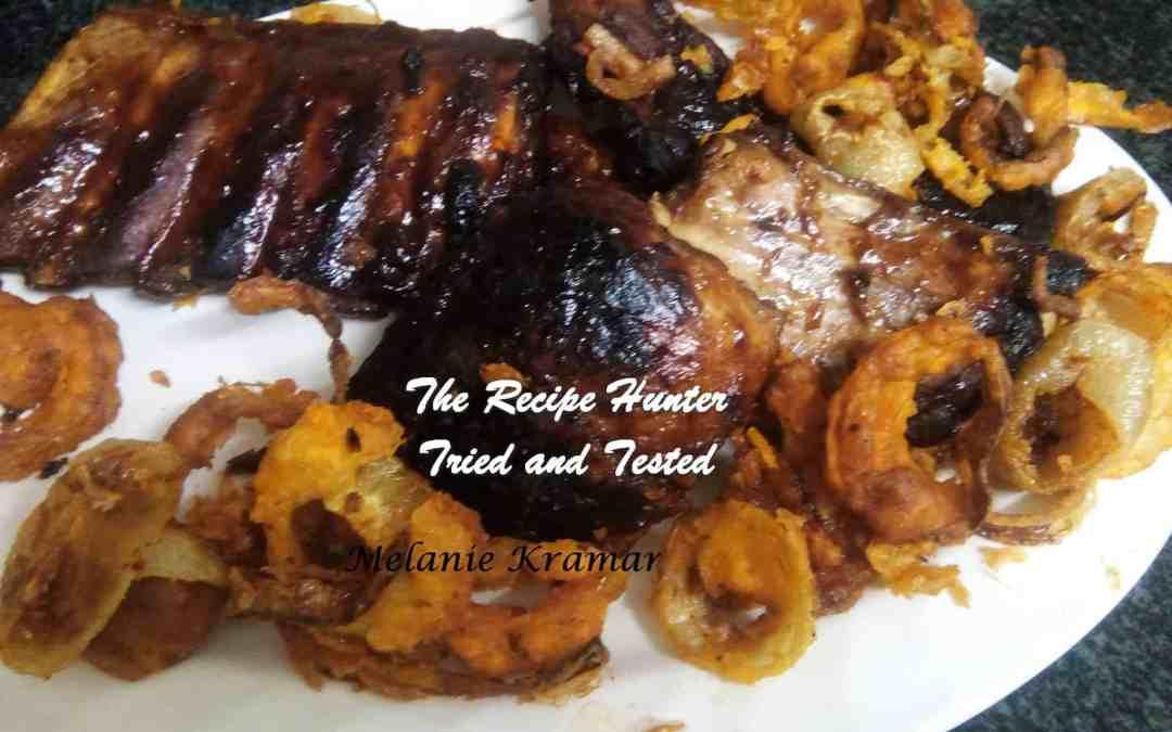 Melanie's BBQ Pork Spare Ribs