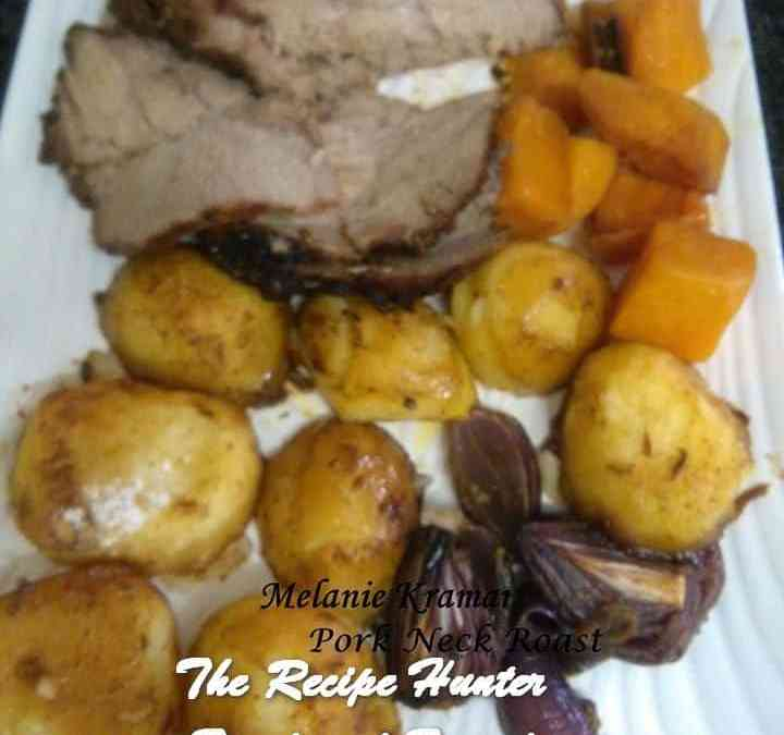 Melanie's Roast Pork Neck with Mustard and Fennel Rub