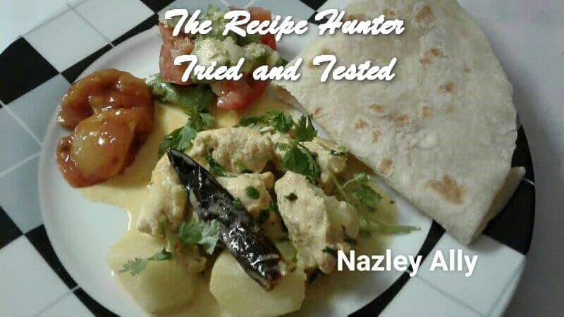 TRH Nazley's Indian style coconut chicken curry