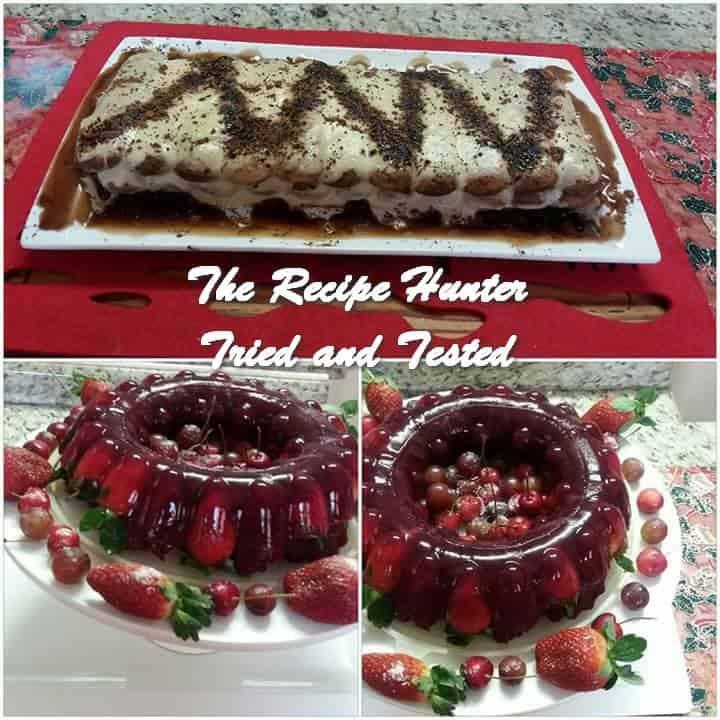 TRH Sandy's Upside Down Red Velvet Cake Fruit Berry Trifle