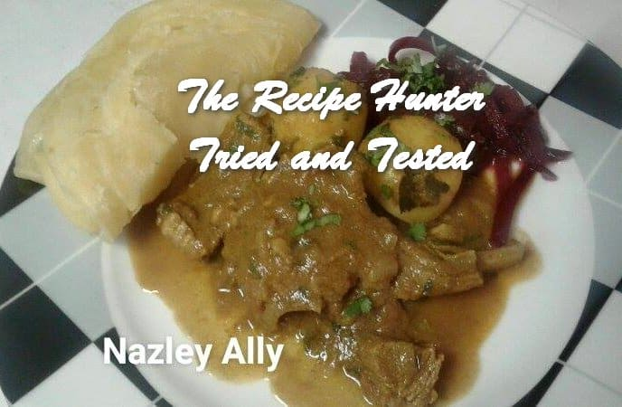 Nazley's Mutton / Lamb Curry served with Roti