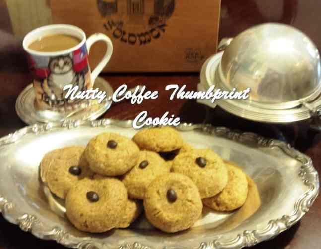 TRH Nutty Coffee Thumbprint Cookie