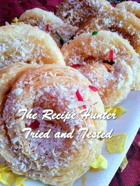 TRH Rashida's Puff Pastry topped with Coconut and Almonds