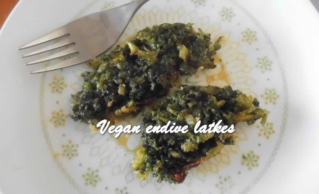 TRH Vegan endive latkes