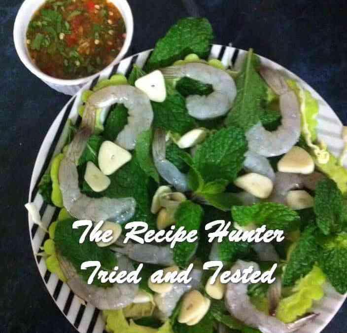 Carol's Raw Prawns with Thai Chillies (Gung Che Num Pa)