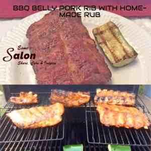 BBQ BELLY PORK RIB WITH HOME-MADE RUB