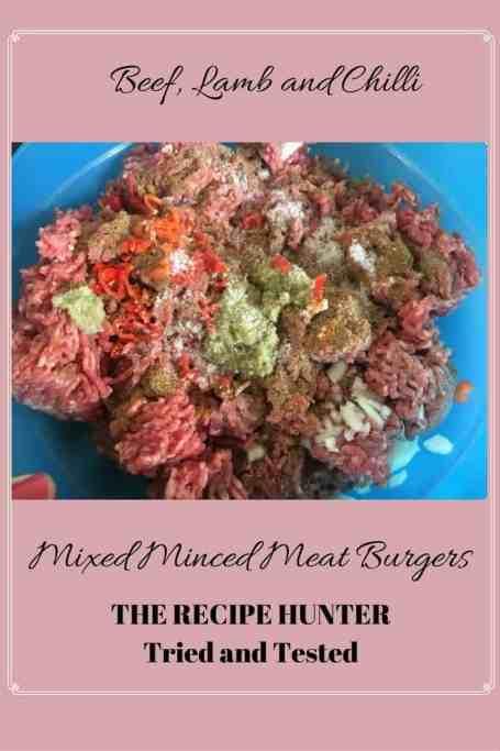 Bobby's Mixed mint meats burgers