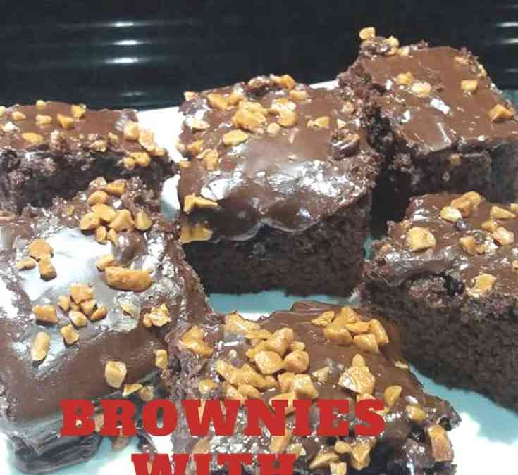 Feriel's Brownies with Chocolate Icing
