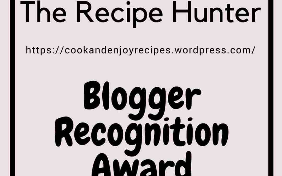Blogger Recognition Award 6