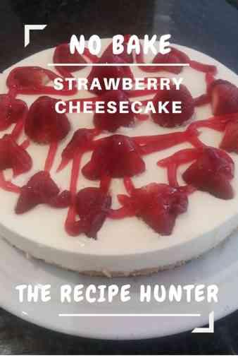 No Bake Strawberry Cheesecake
