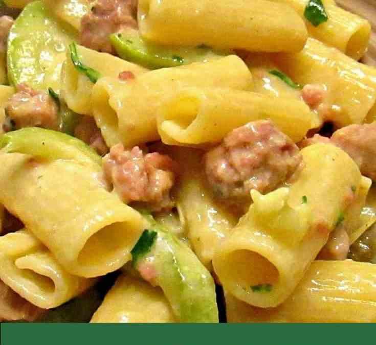 Telma's Pasta with Italian Sausage and Zucchini