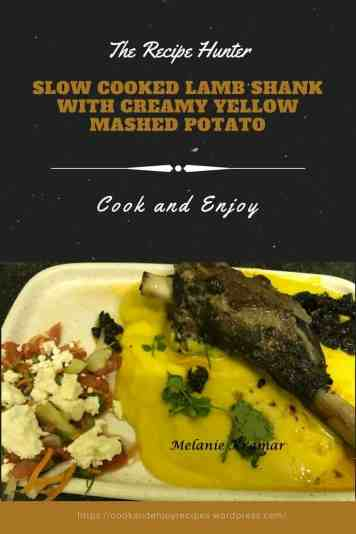 Slow Cooked Lamb Shank with Creamy Yellow Mashed Potato