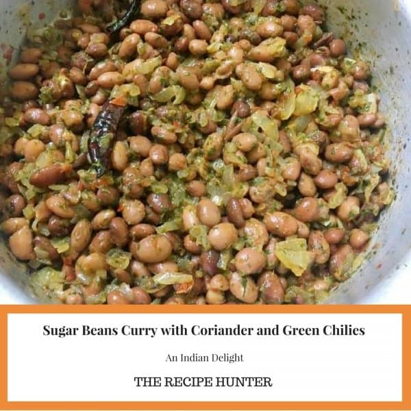 Sugar Beans Curry with Coriander and Green Chilies