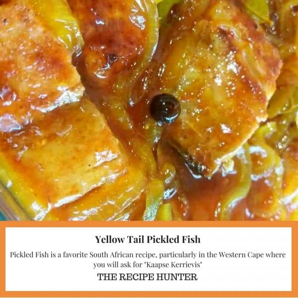 Yellowtail Pickled Fish