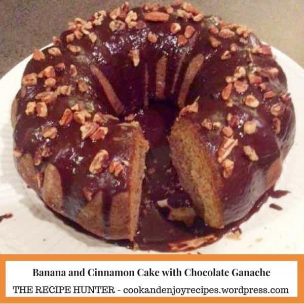 Banana and Cinnamon Cake with Chocolate Ganache