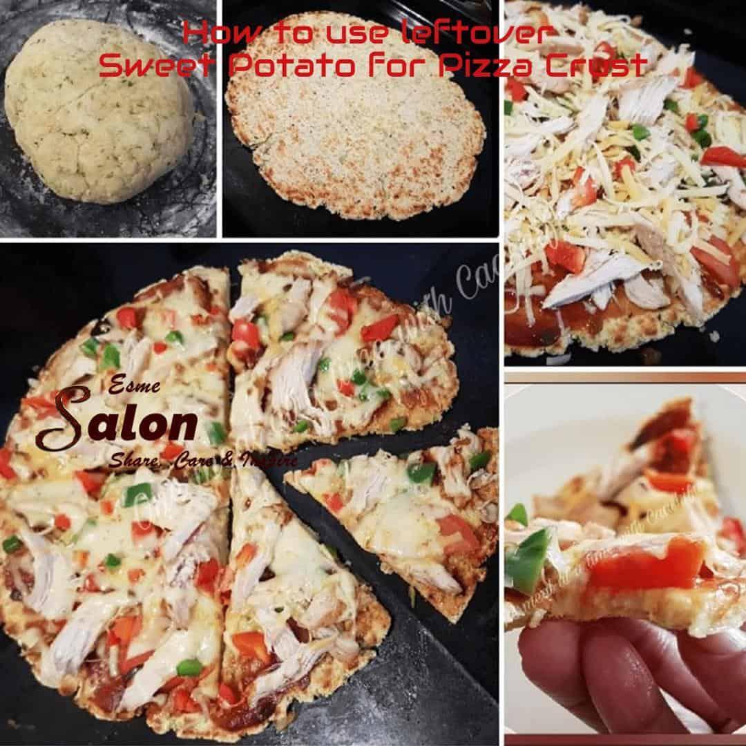 Why use leftover Sweet Potato for Pizza Crust  #glutenfree #wheatfree #shareEScare