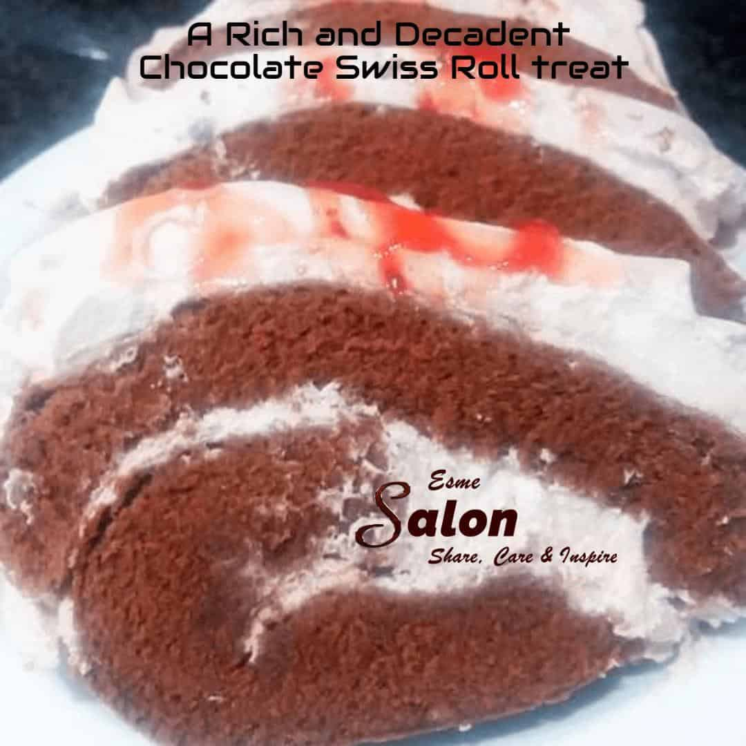 A Rich and Decadent Chocolate Swiss Roll treat