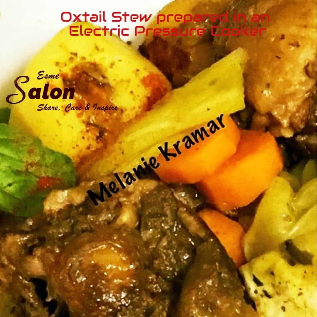 Oxtail Stew prepared in an Electric Pressure Cooker