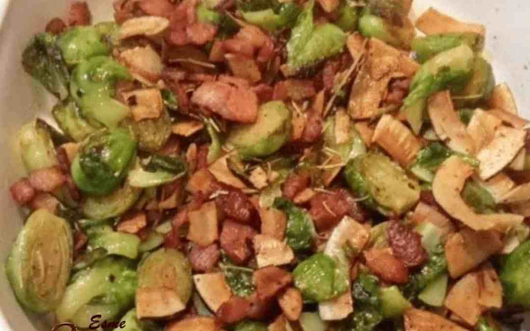 Stirfry Bacon and Brussel Sprouts