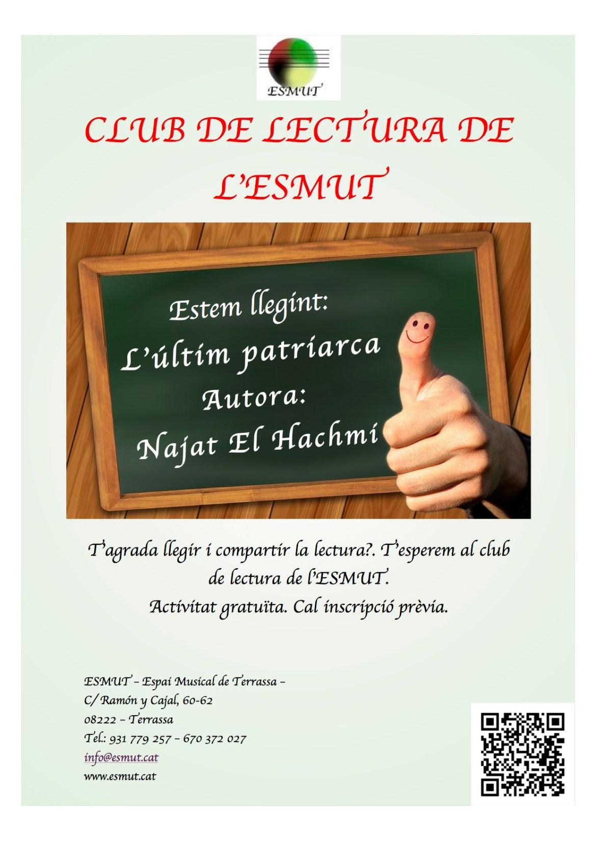 Poster club de lectura