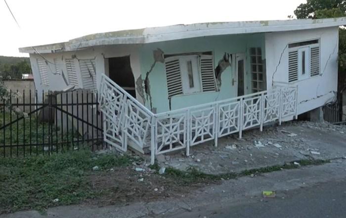 Seis viviendas en Guánica colapsan con sismo