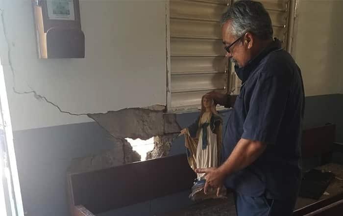 Guánica se quedó sin capillas católicas por el terremoto