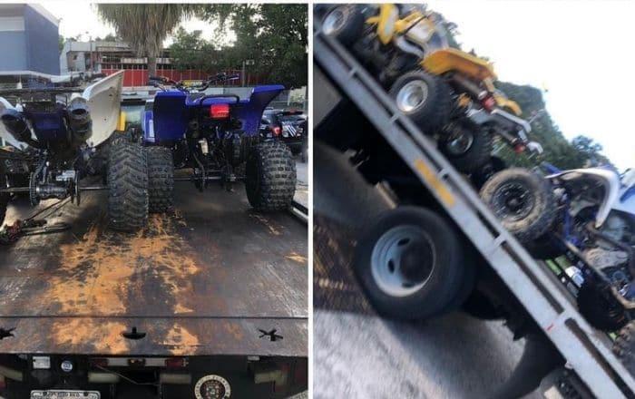 """Policía y DRNA intervienen con personas guiando """"four track"""""""