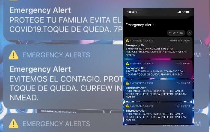 Regresa el alerta del toque de queda al celular