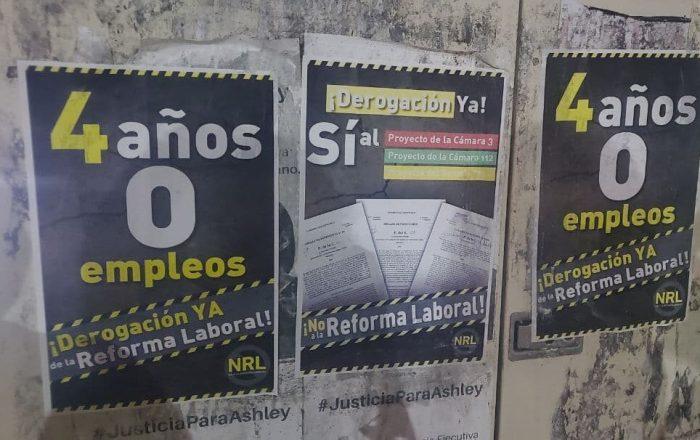 Sindicato exige derogación de la Reforma Laboral