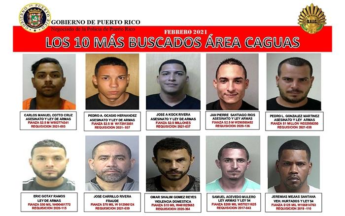 'Wassa' encabeza lista de Más Buscados en Caguas