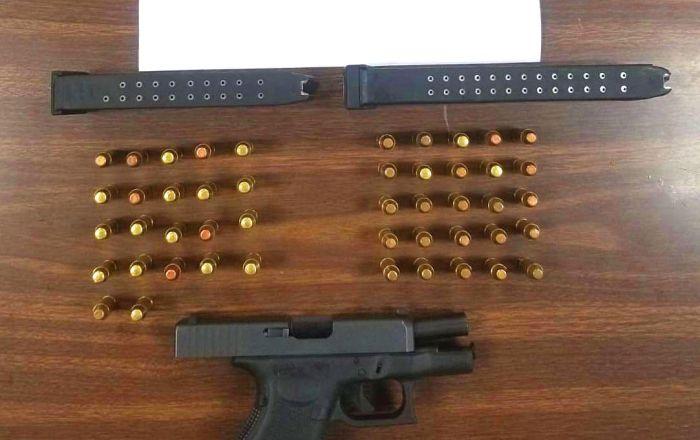Hallazgo de pistola y municiones en Ponce